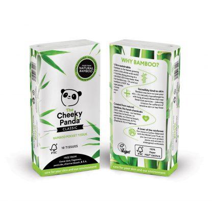 The Cheeky Panda Bamboo Pocket Tissues