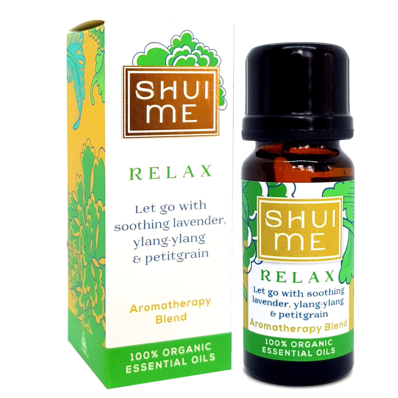 Shui Me Relax Organic Essential Oil Blend 10ml Wellbeing Bristol